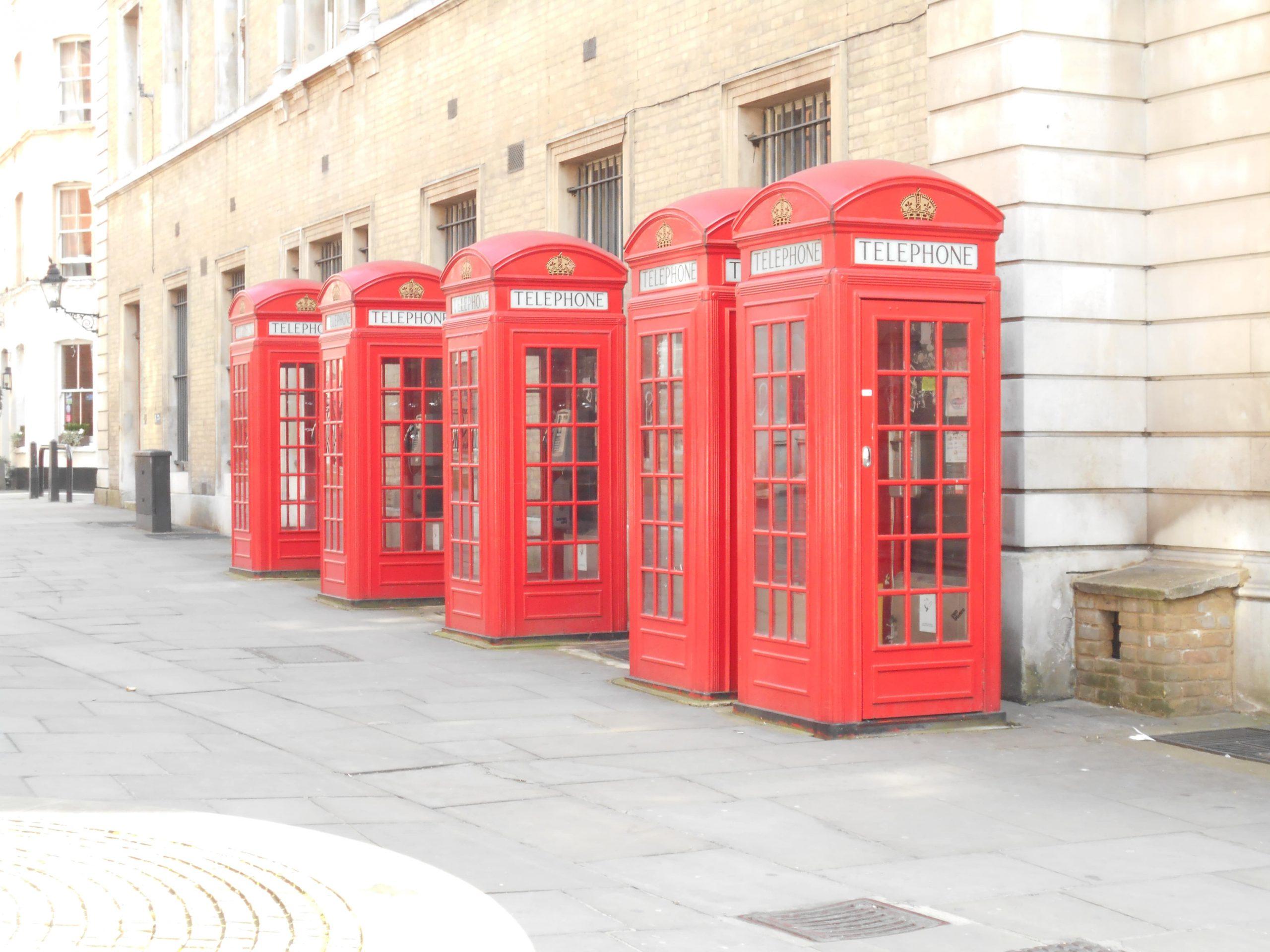 cabines téléphoniques de Londres
