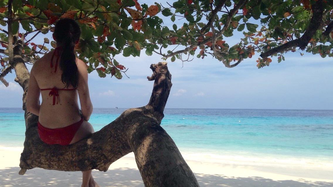 sur la plage des iles similan