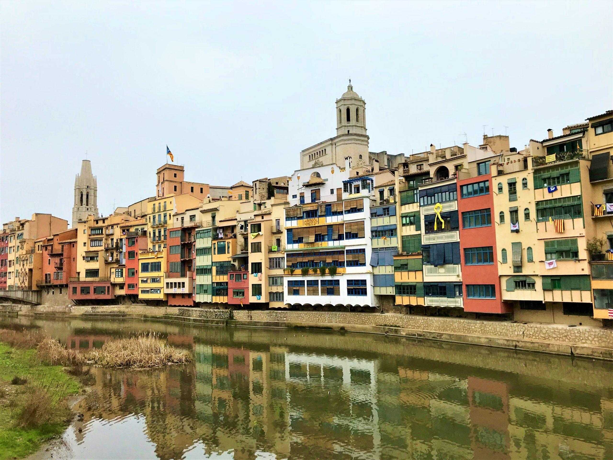 Gérone et ses maisons colorées