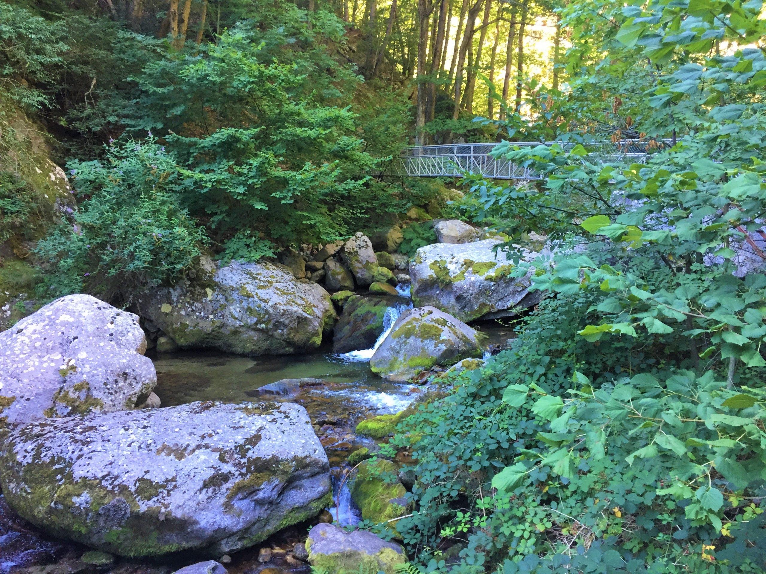 sentier des gorges du cady pyrénées orientales