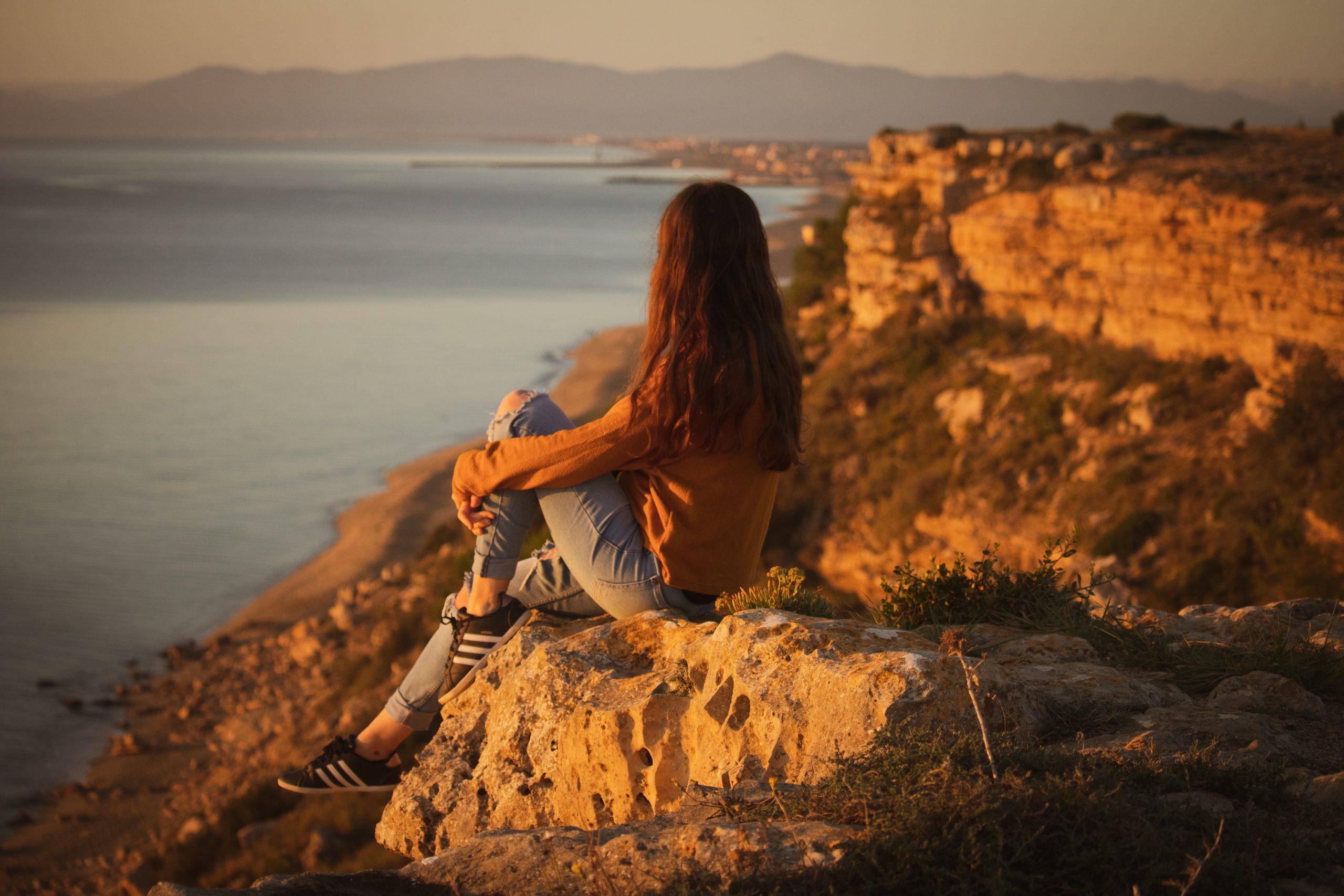 lever de soleil a la falaise de Leucate