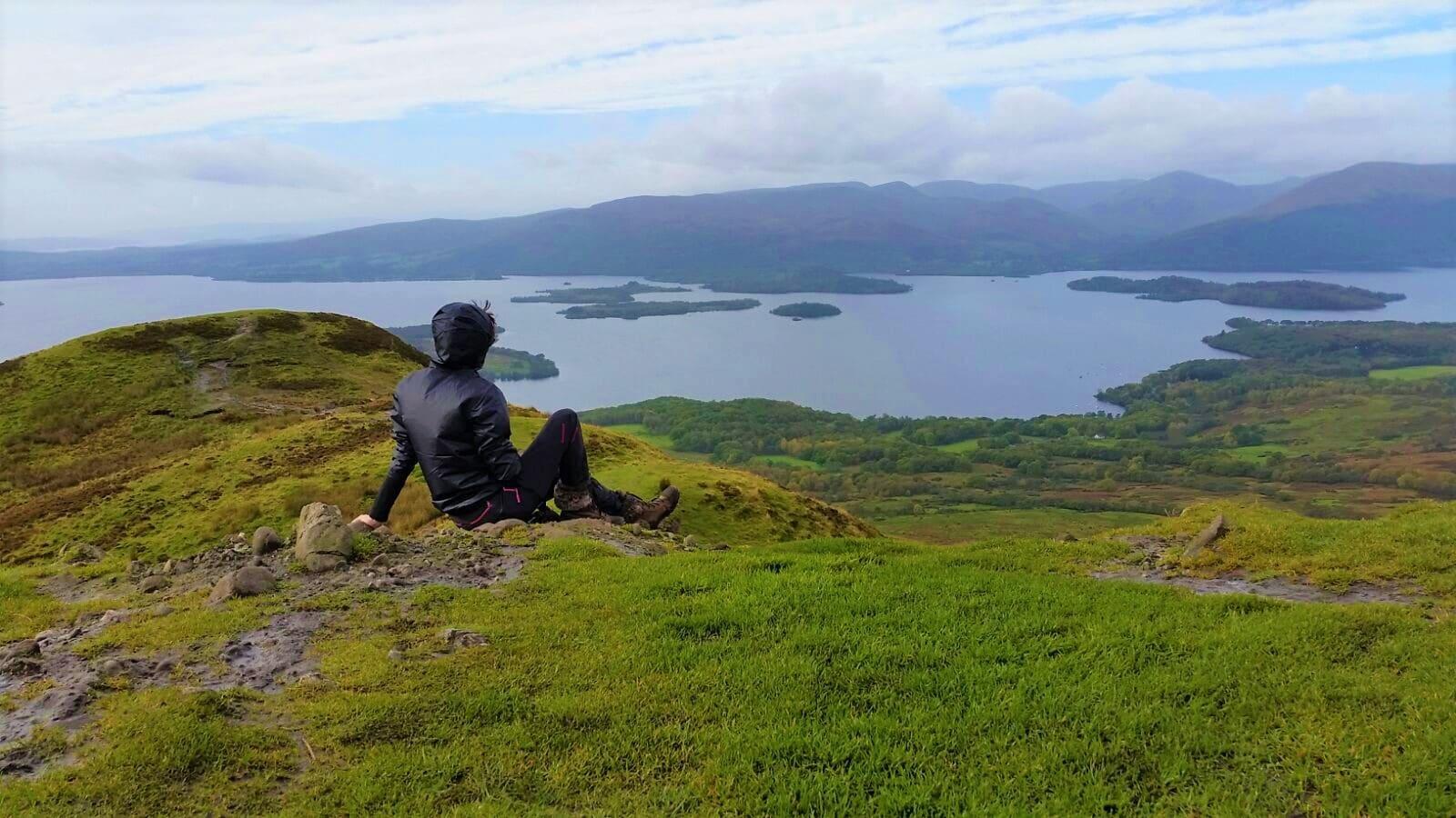 Sommet du Conic hill parc du Loch Lomond