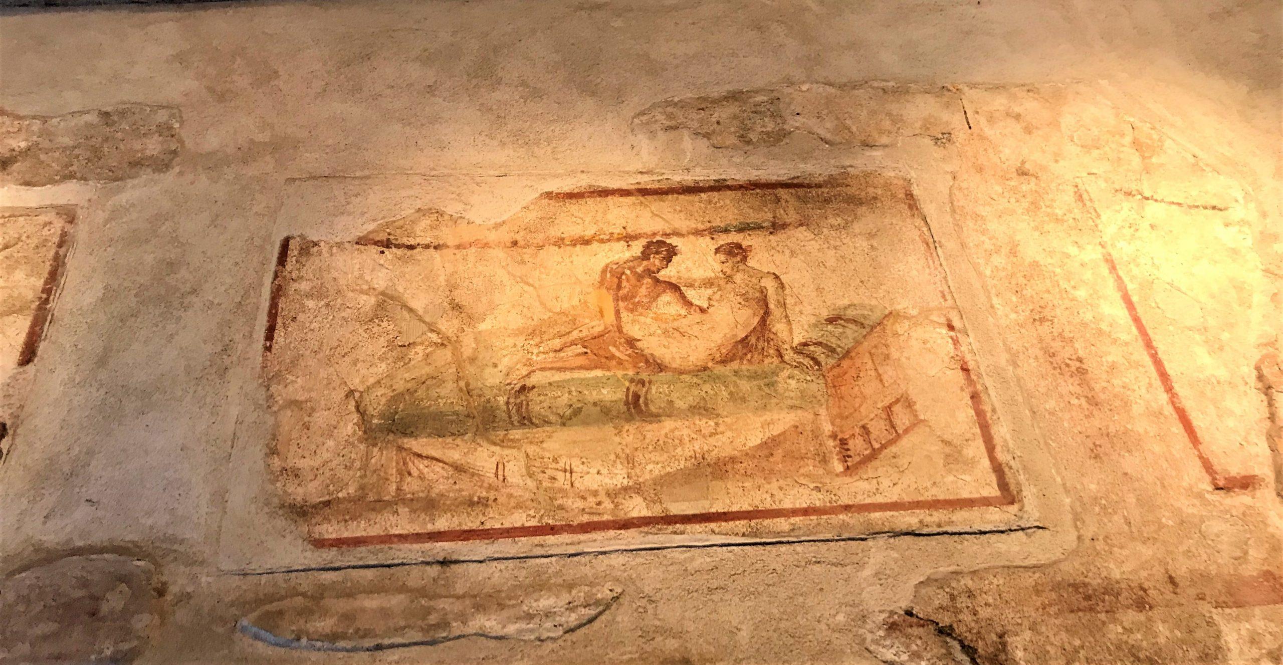 Pompéi peinture du lupanar