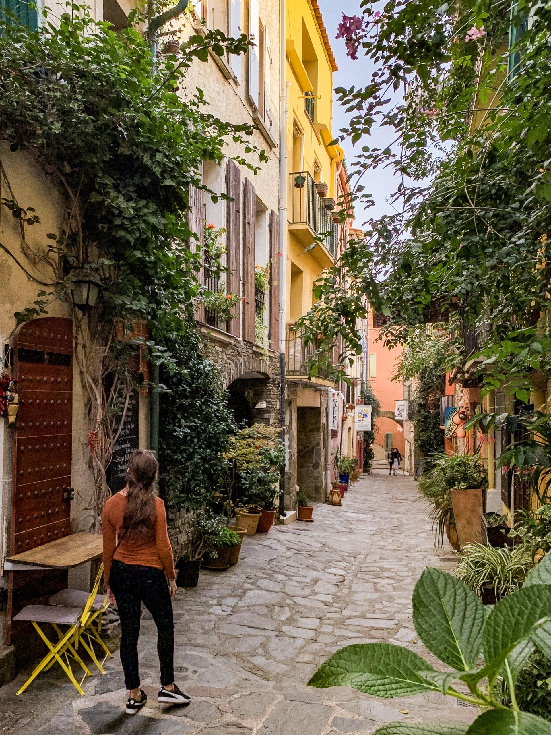 La ruelle des galeries d'art à Collioure