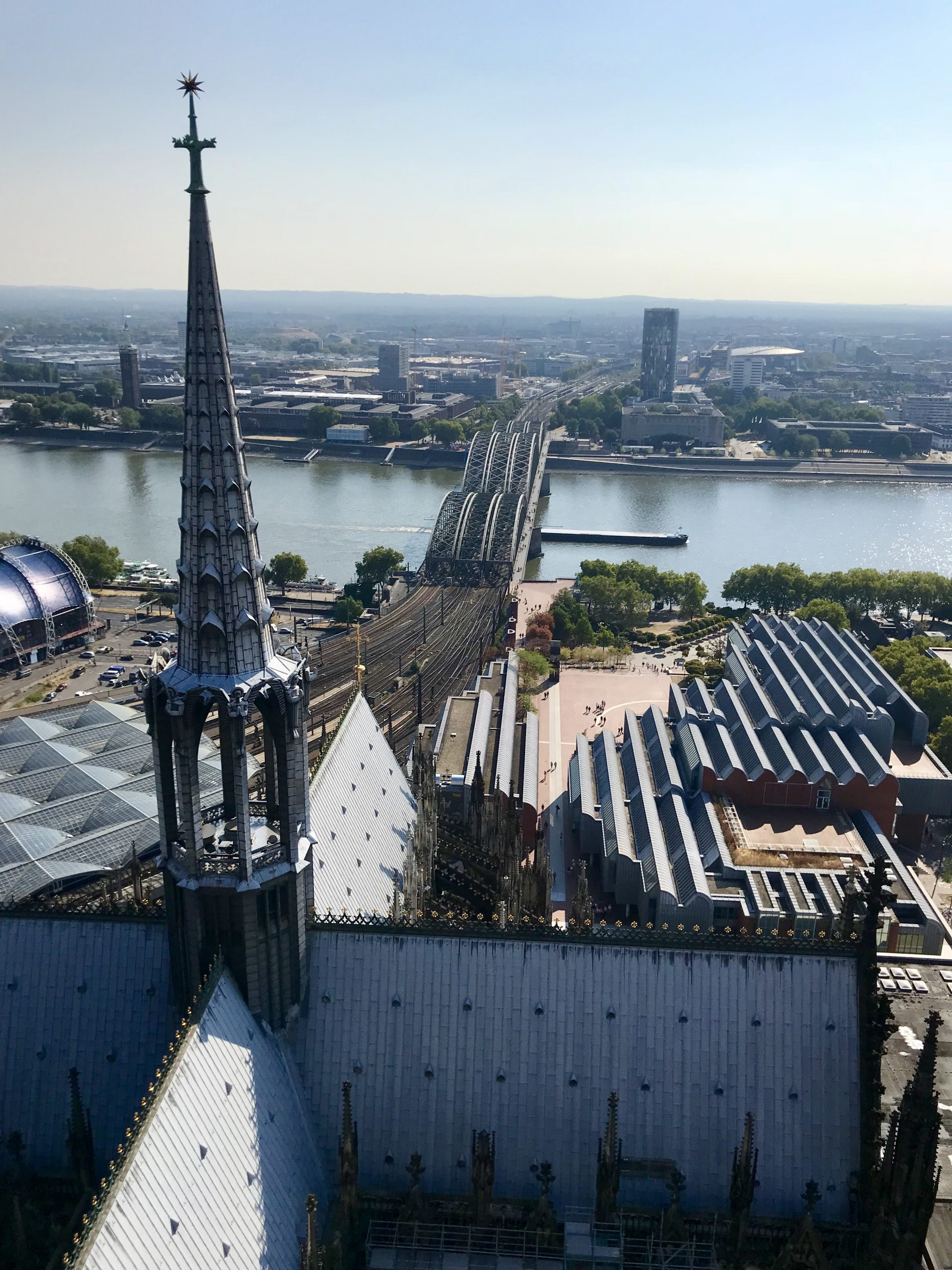 vue depuis la cathédrale de cologne
