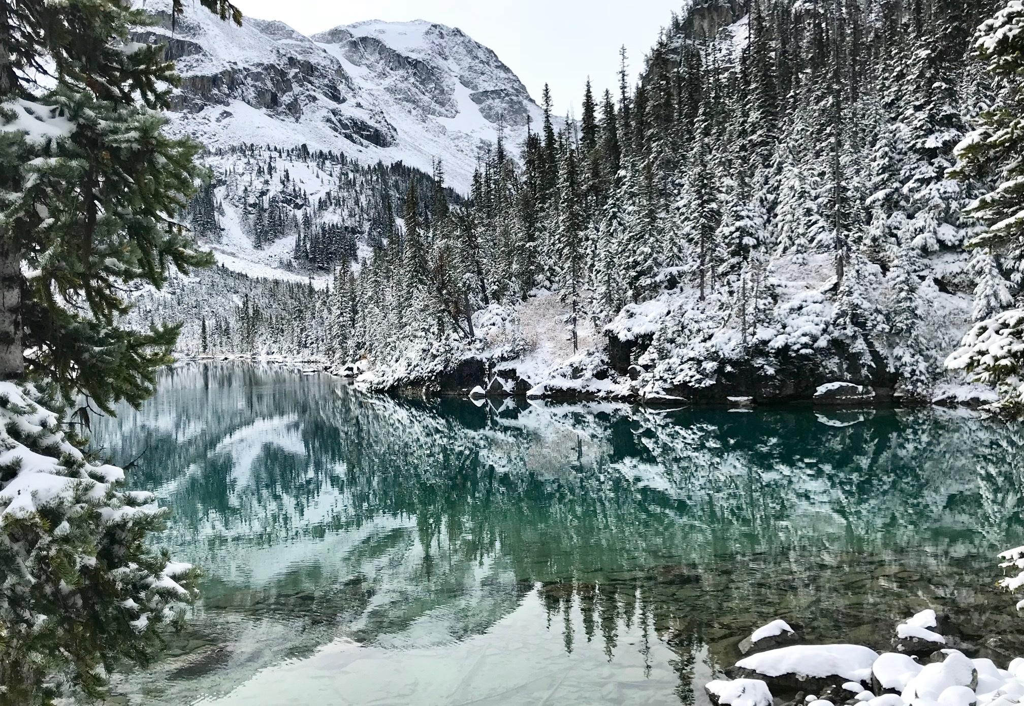 joffre lakes randonnée sous la neige