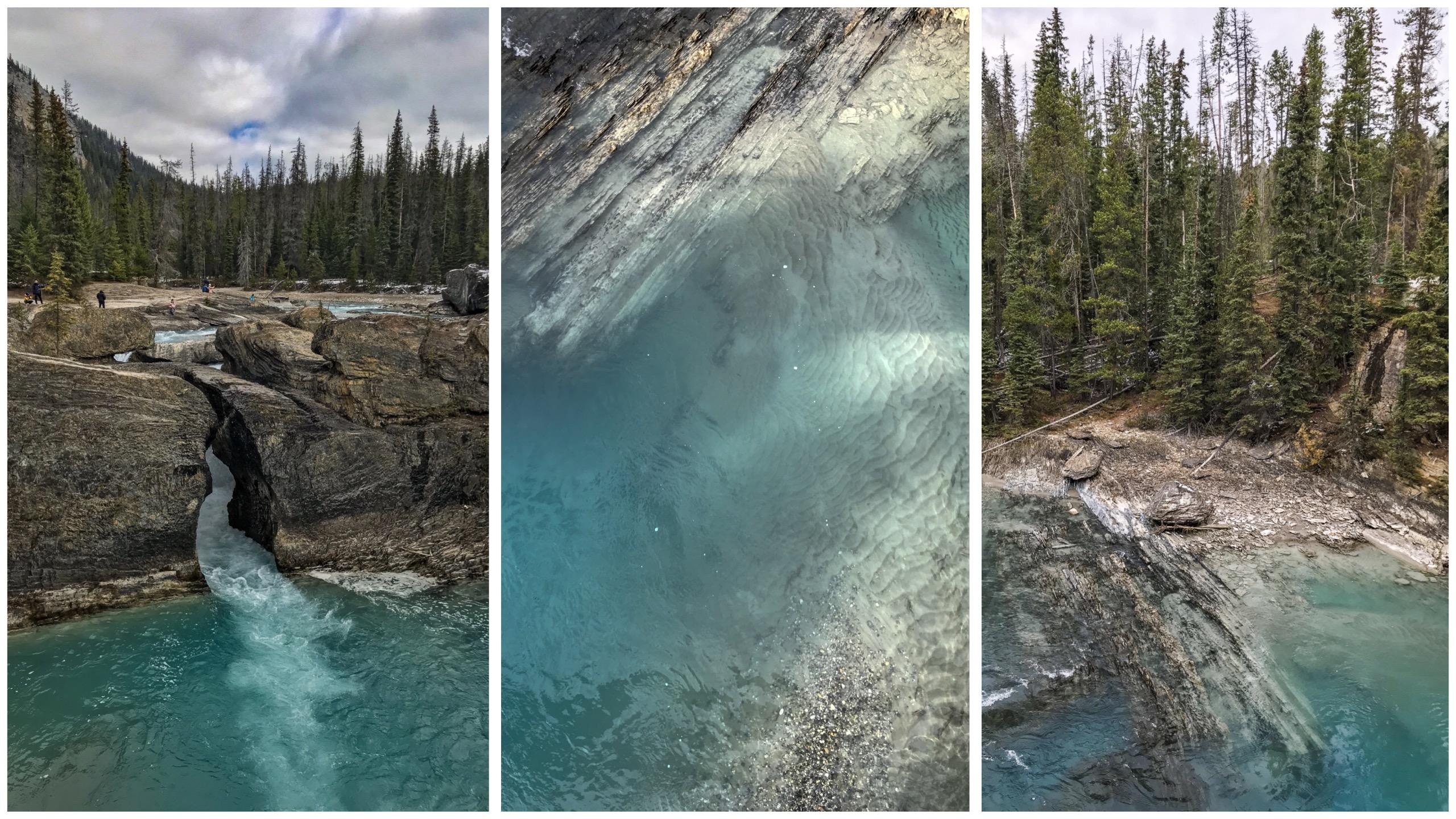 Le natural bridge rocheuses canadiennes