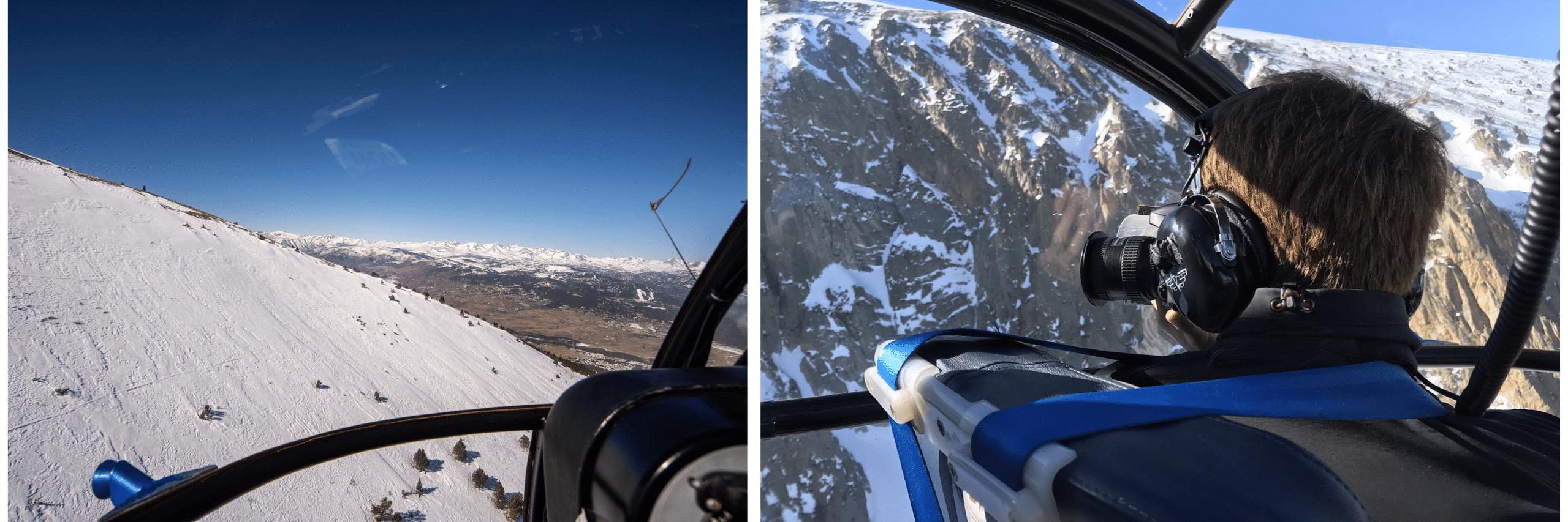 cerdagne helico des neiges