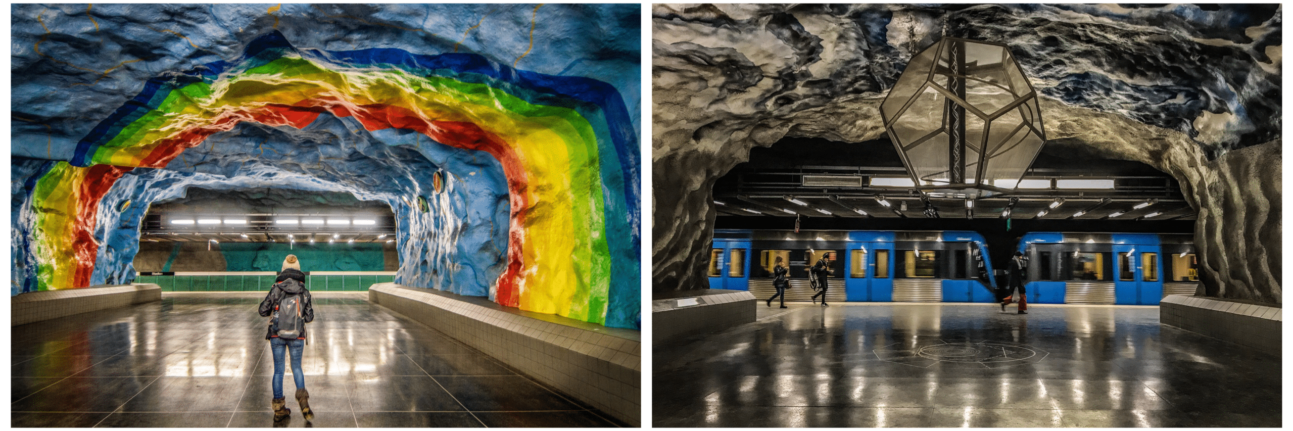 métro stockholm oeuvres d'art