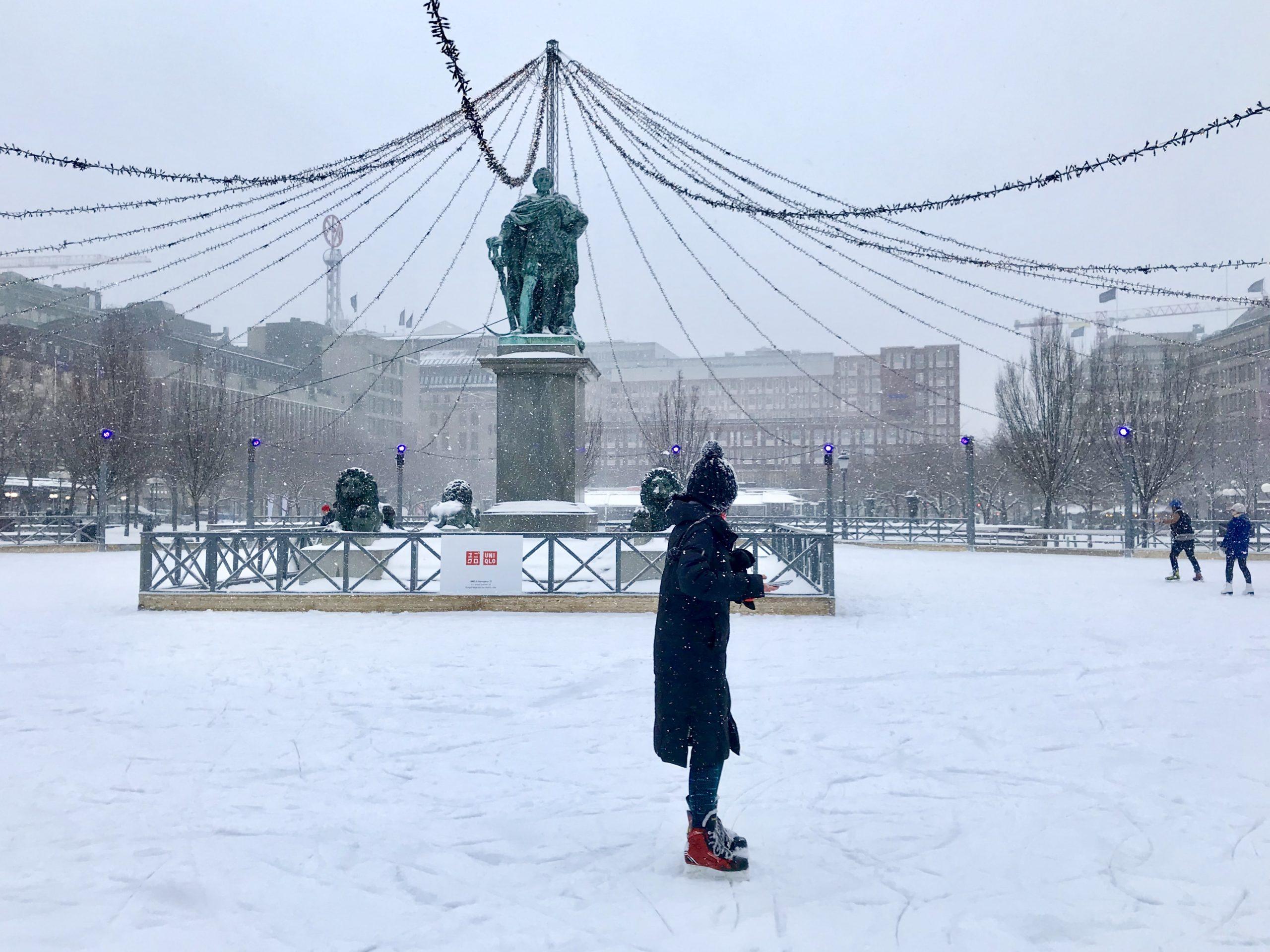 patinoire éphémère stockholm