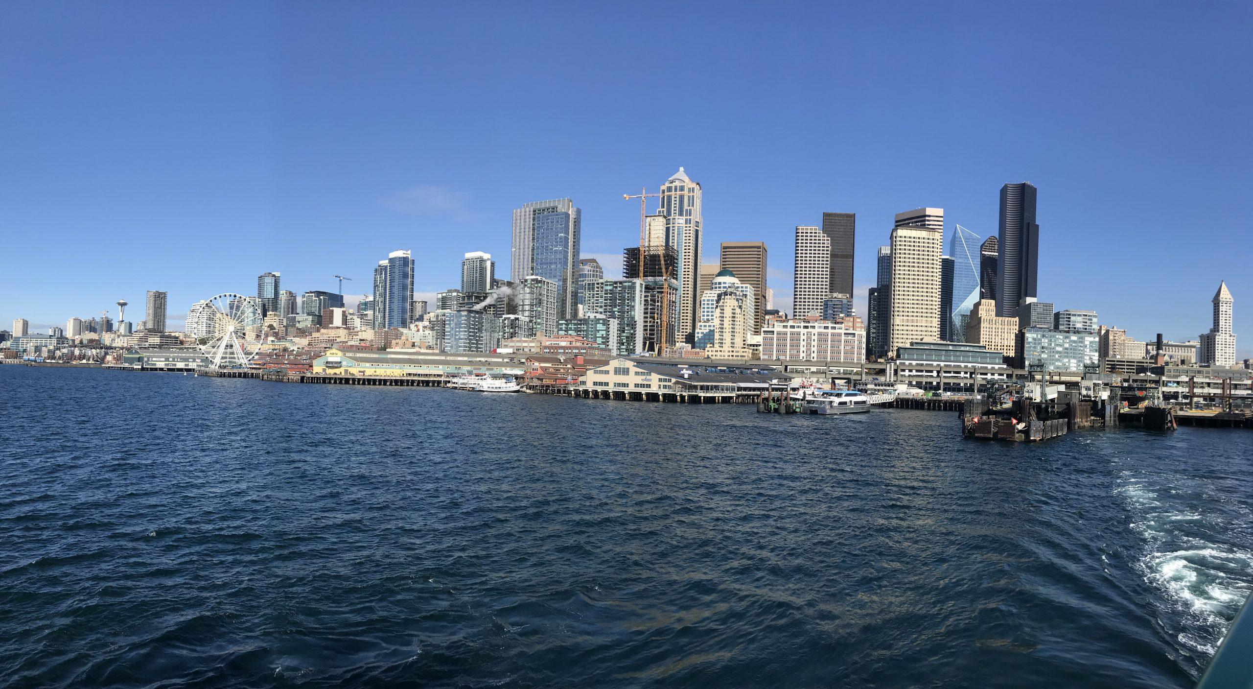 Seattle depuis le Ferry pour Bainbridge Island