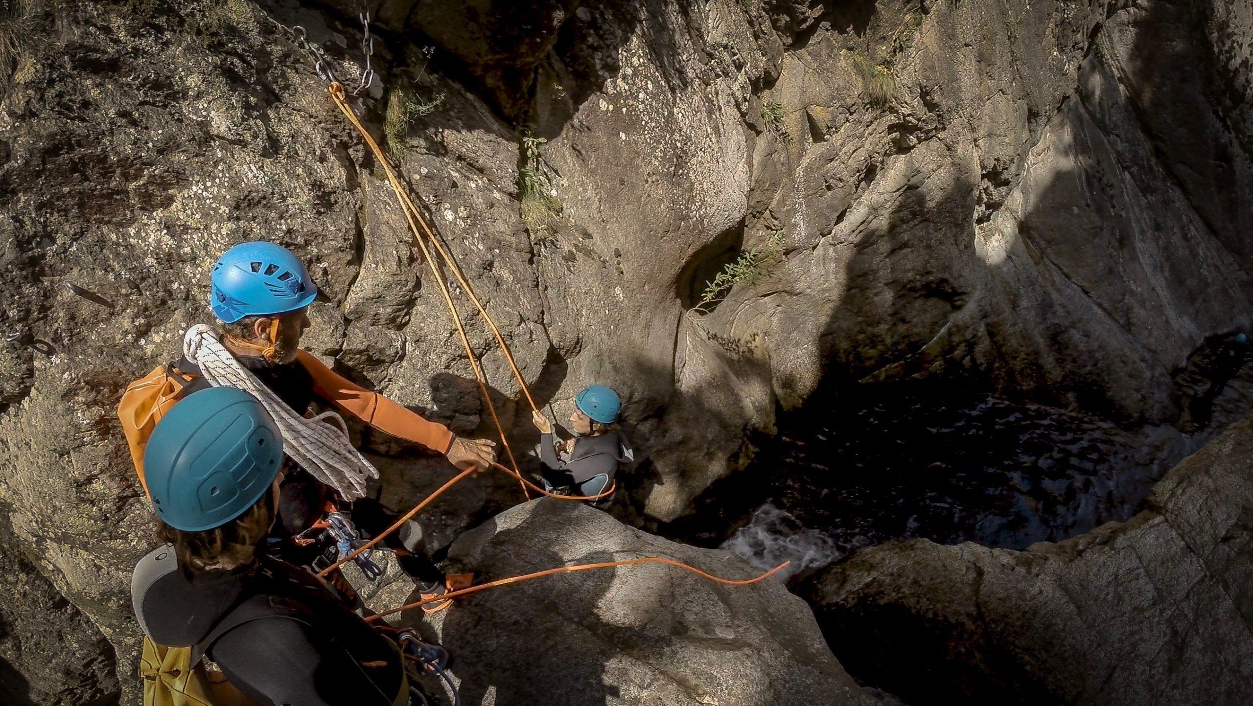 canyoning en Pyrénées orientales avec extreme ctp