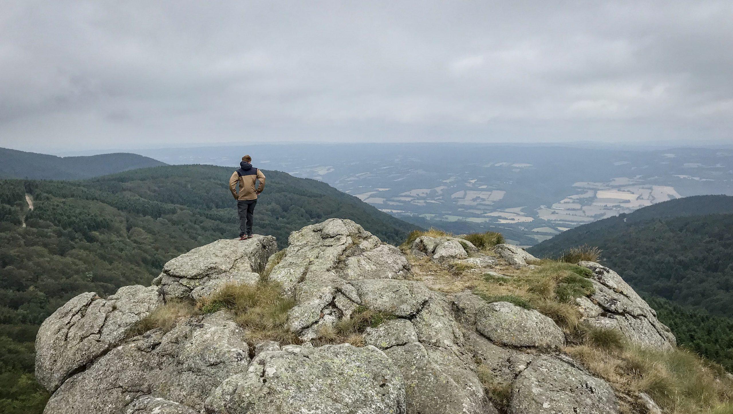 Au sommet du Roc de Peyremaux