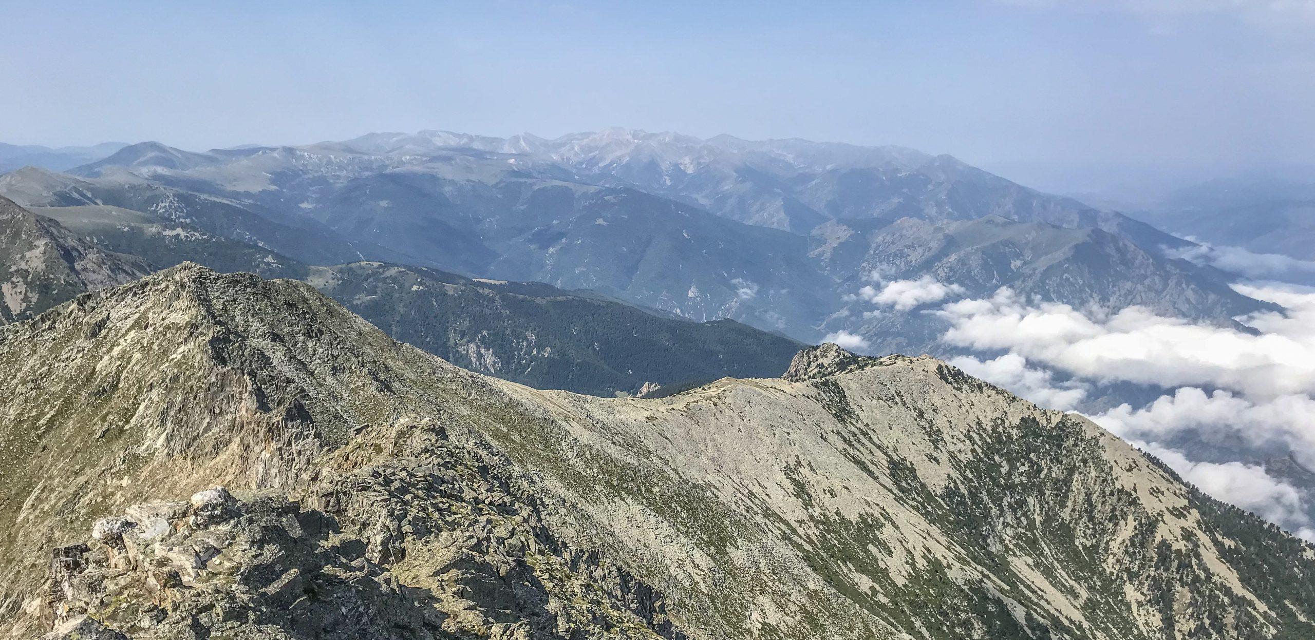 pic du canigo pyrénées orientales panorama