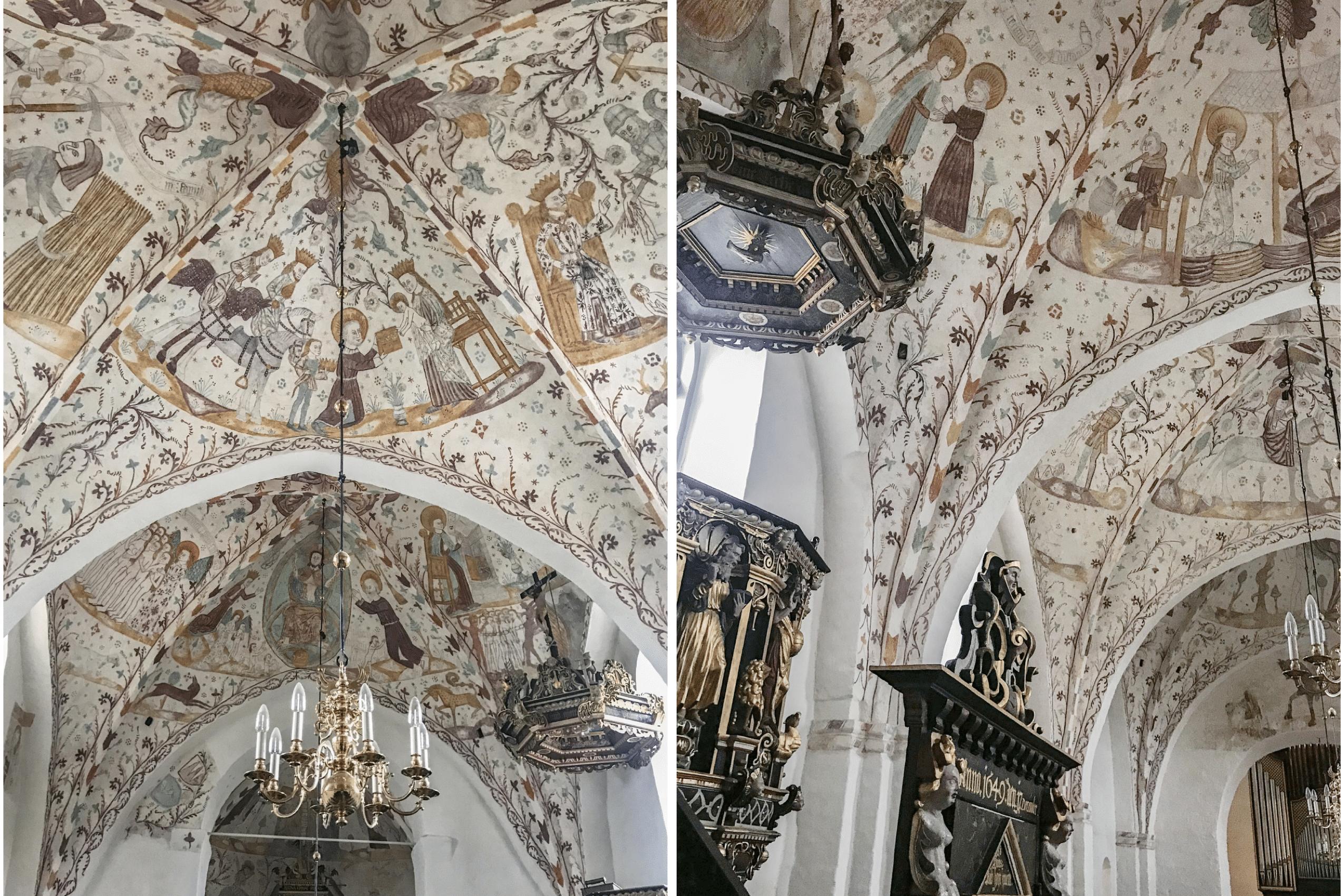 L'égliseFanefjord danemark ile de mon