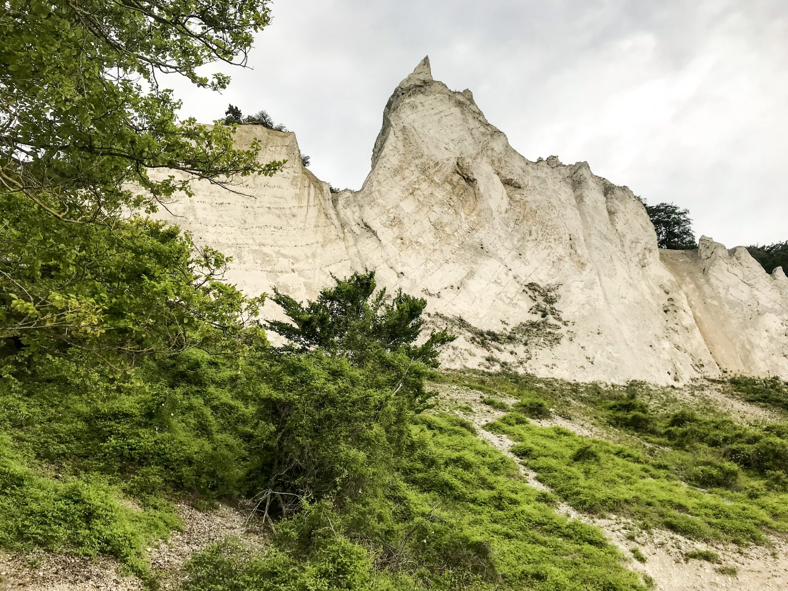 l'ile de mon danemark falaises