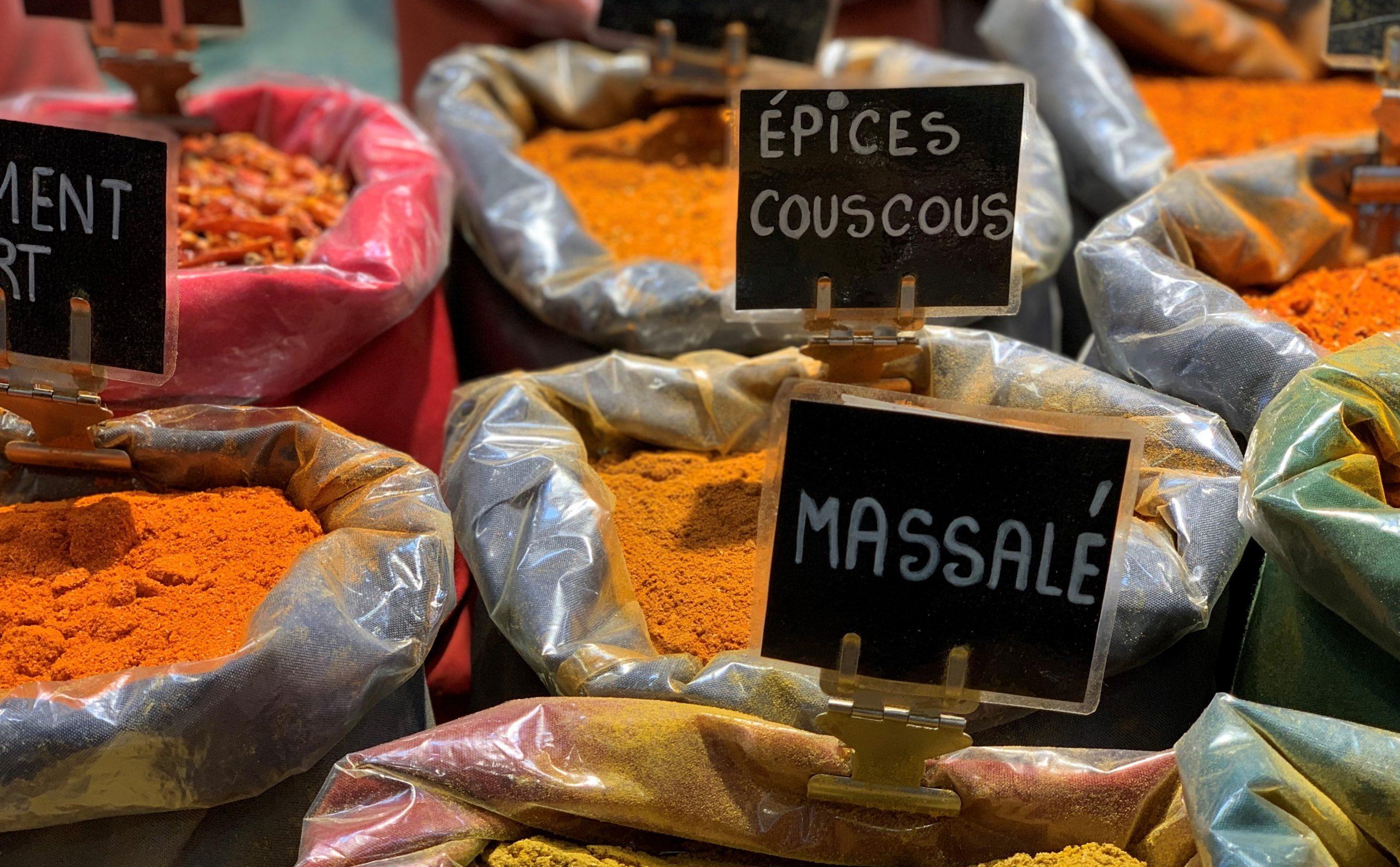 épices du marché des halles
