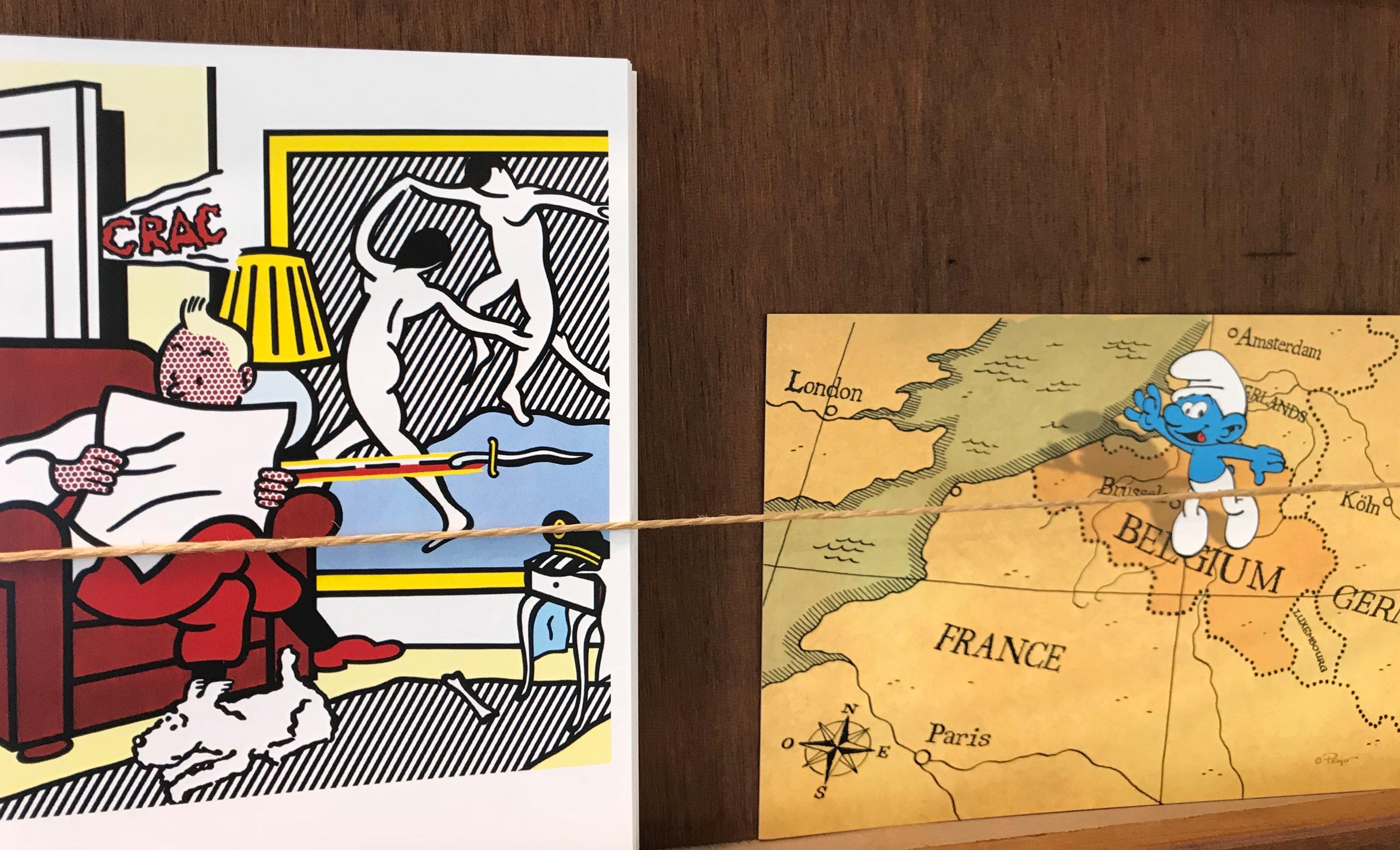 Quand Tintin et le Schtroumpf se retrouvent à Gand