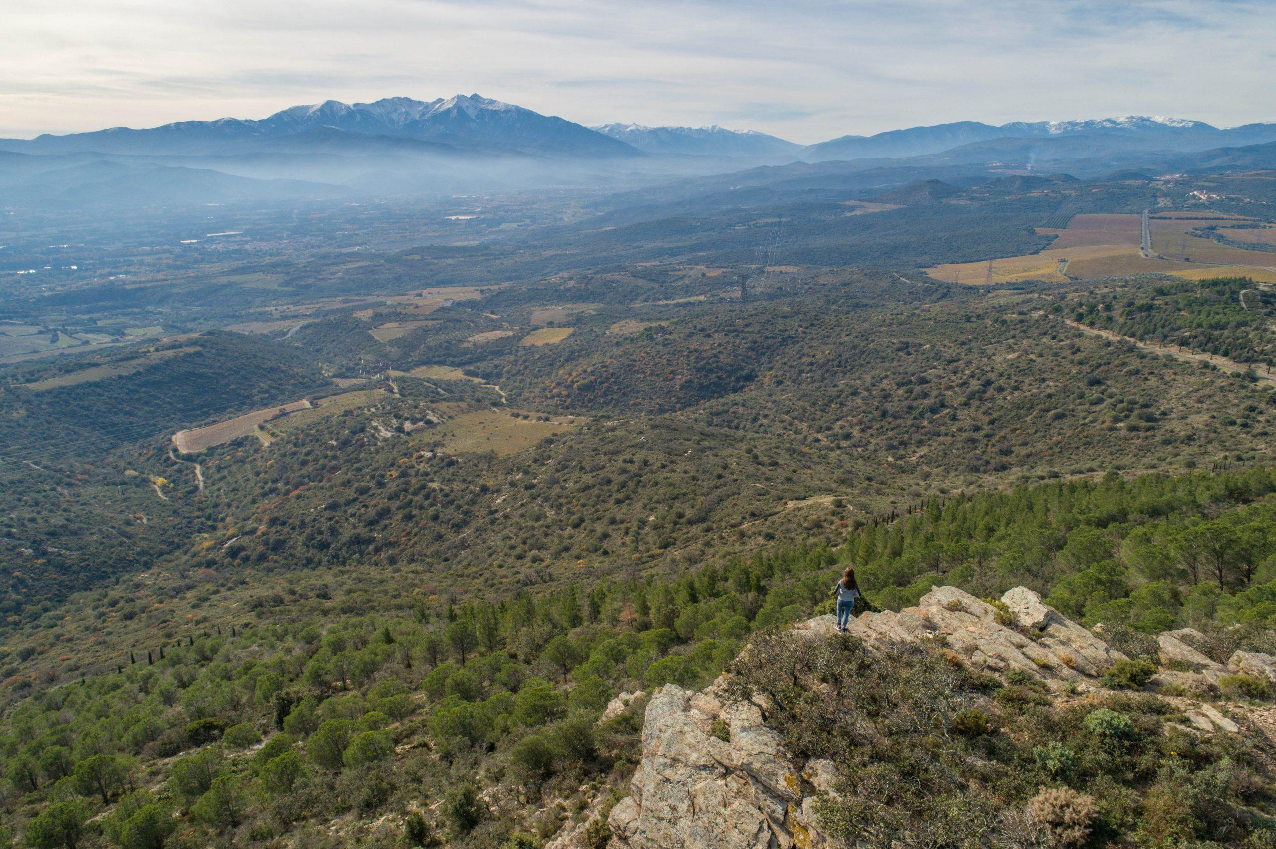 Vue depuis le sentier botanique du Forca real