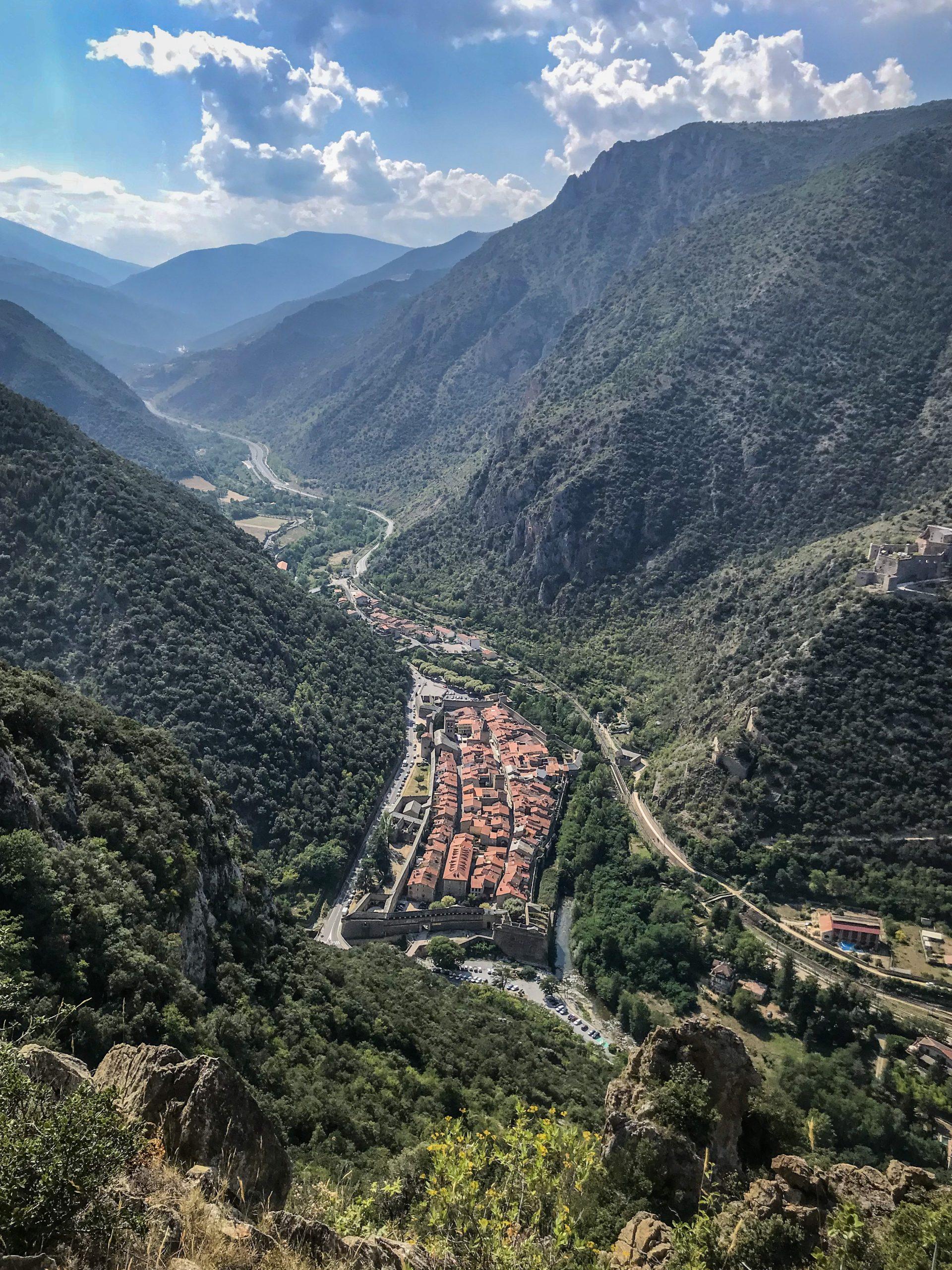 Villefranche de conflent point de vue en Pyrénées-Orientales