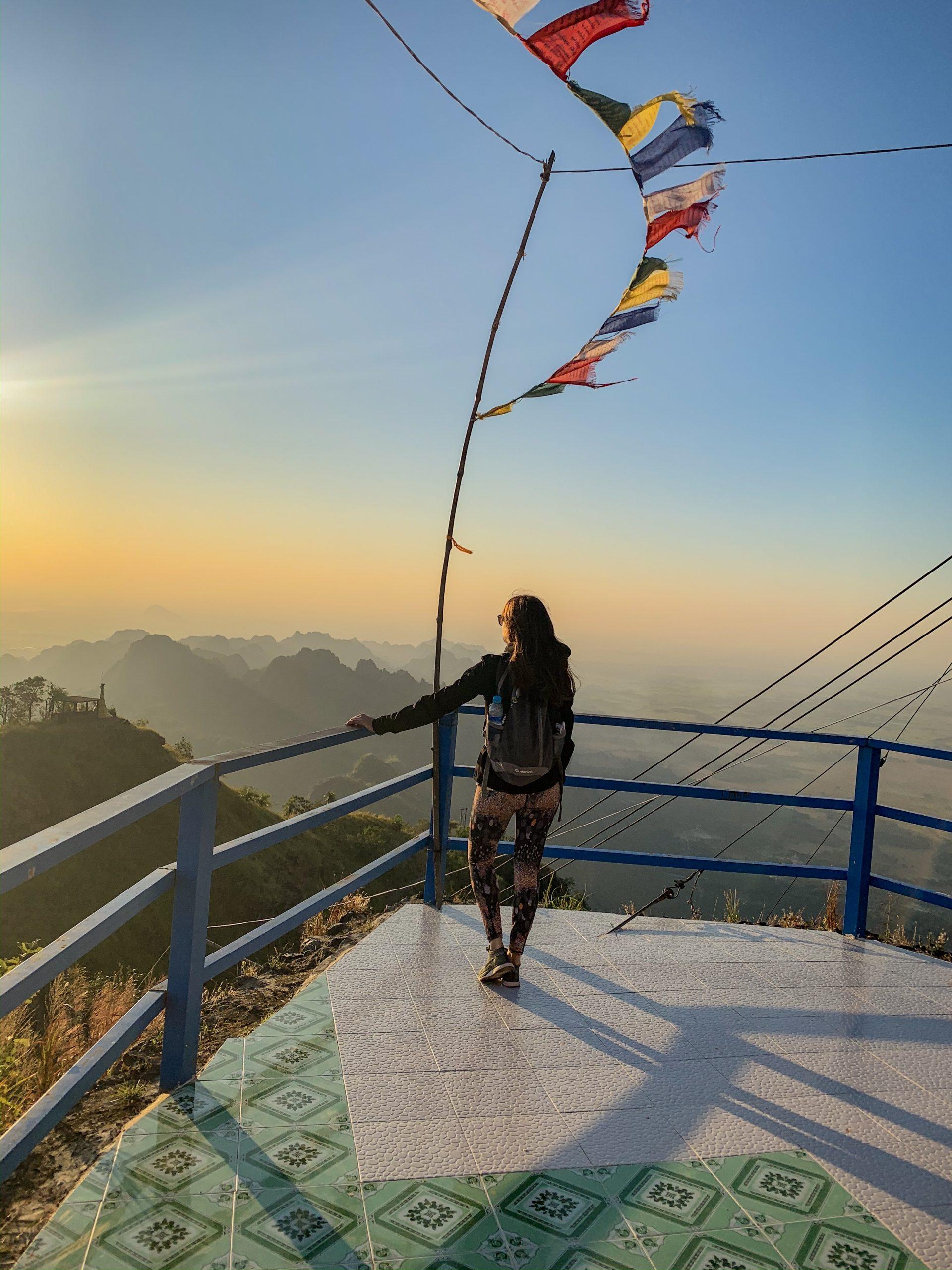 lever de soleil au Mont Shwedagon