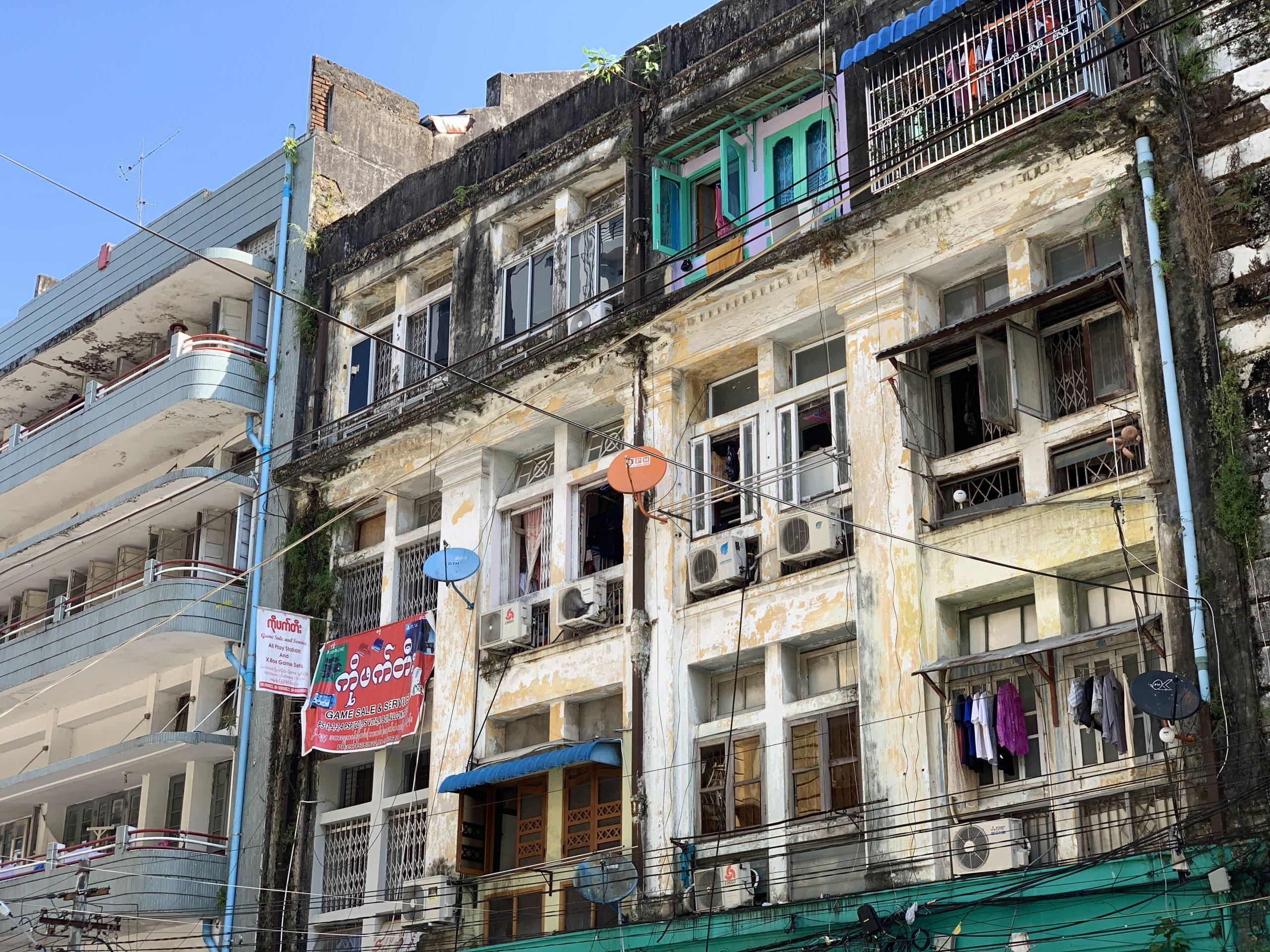 Façades à Yangon