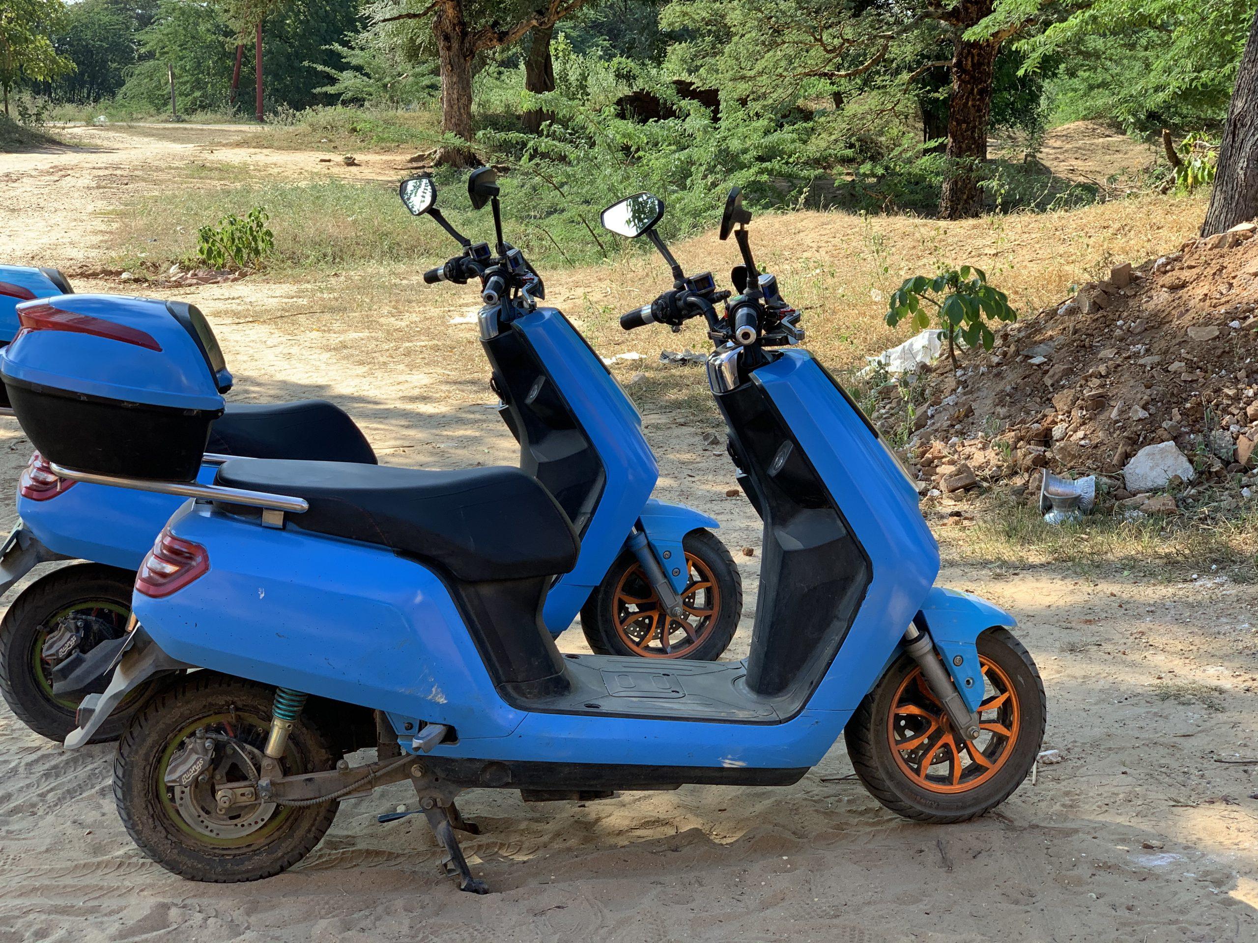 scooter électrique birmanie bagan