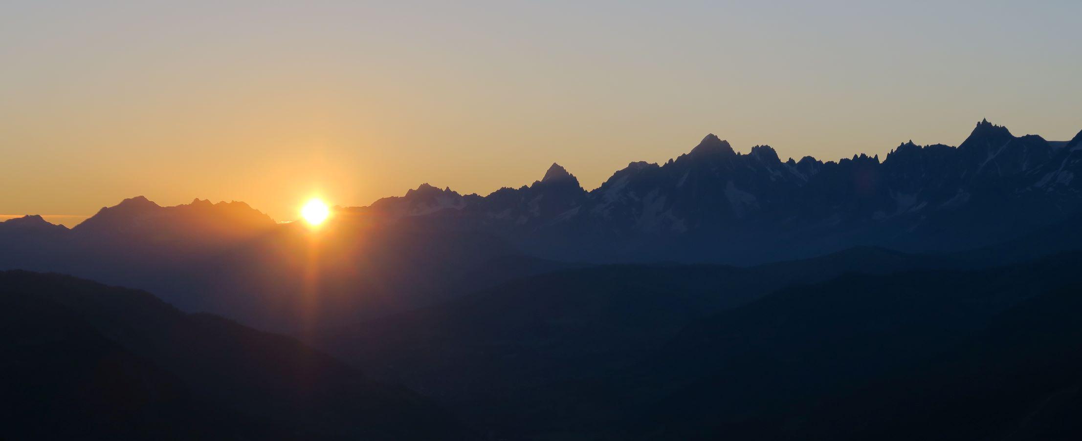 lever de soleil au pays d'albertville