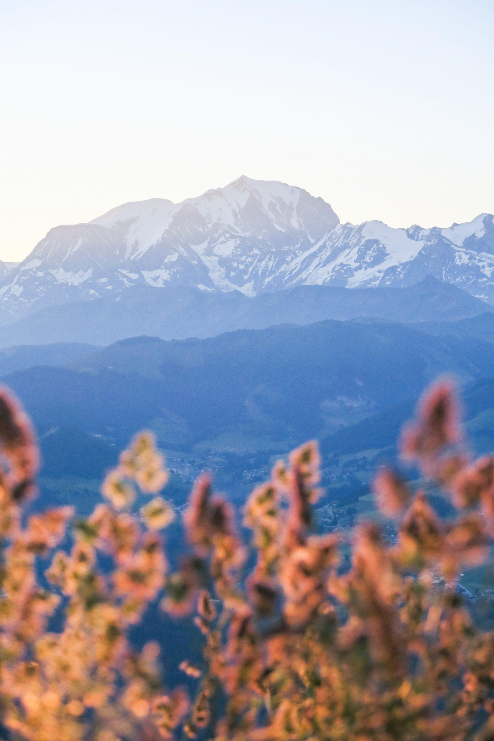 mont blanc depuis le pratz vechin pays d'albertville