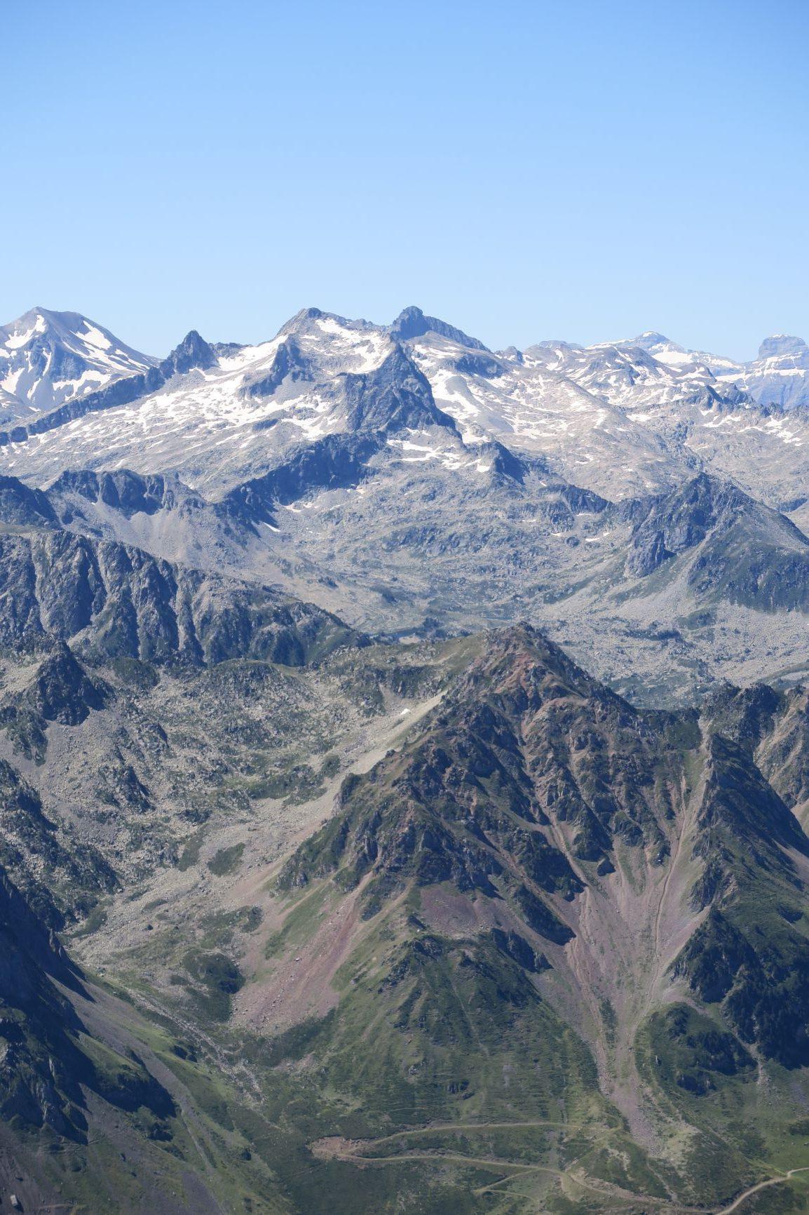 vue depuis le sommet du pic du midi
