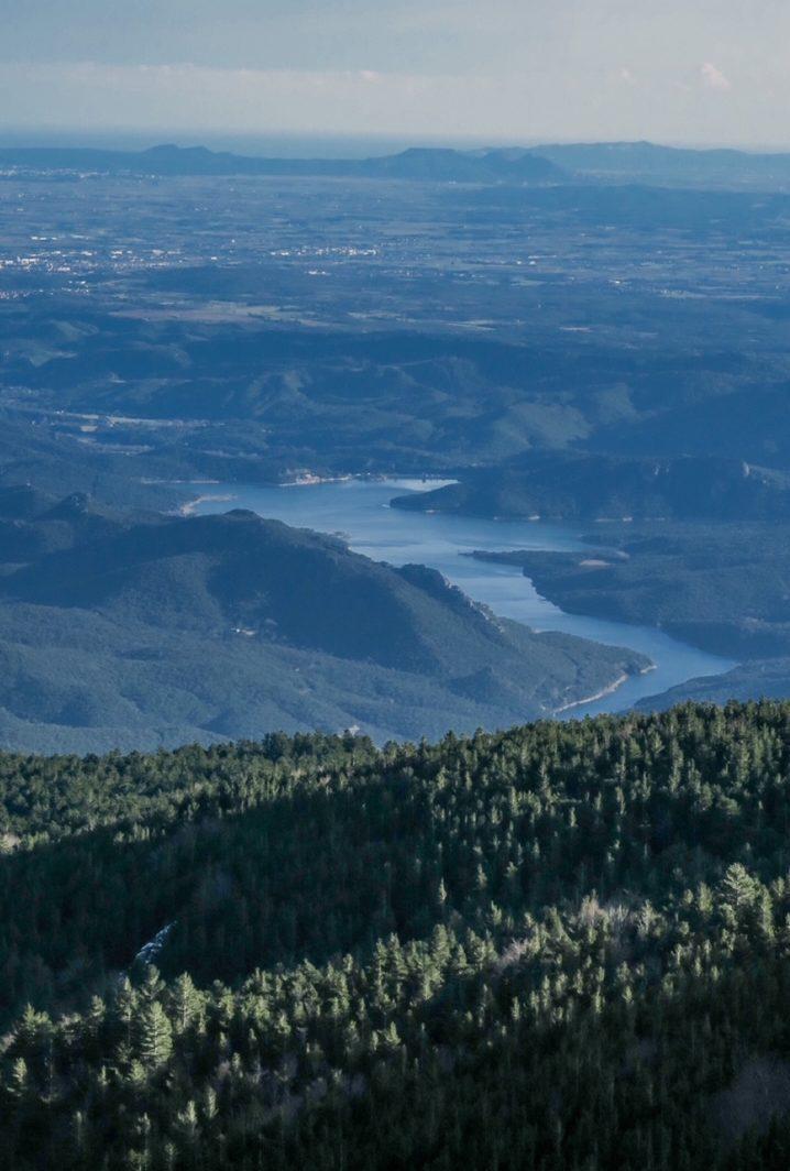 vue sur le lac darnius
