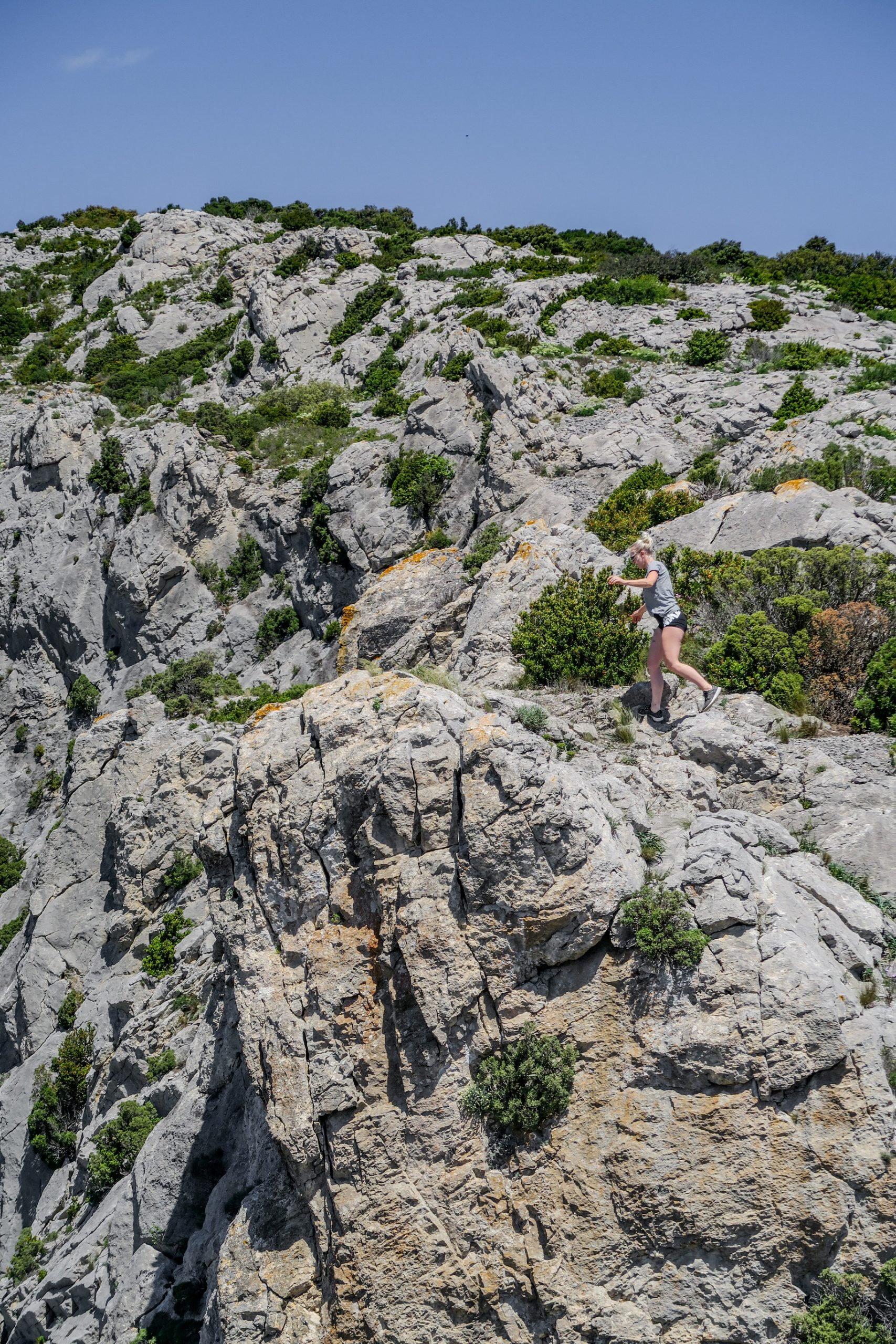 falaises de vingrau pyrénées orientales rando