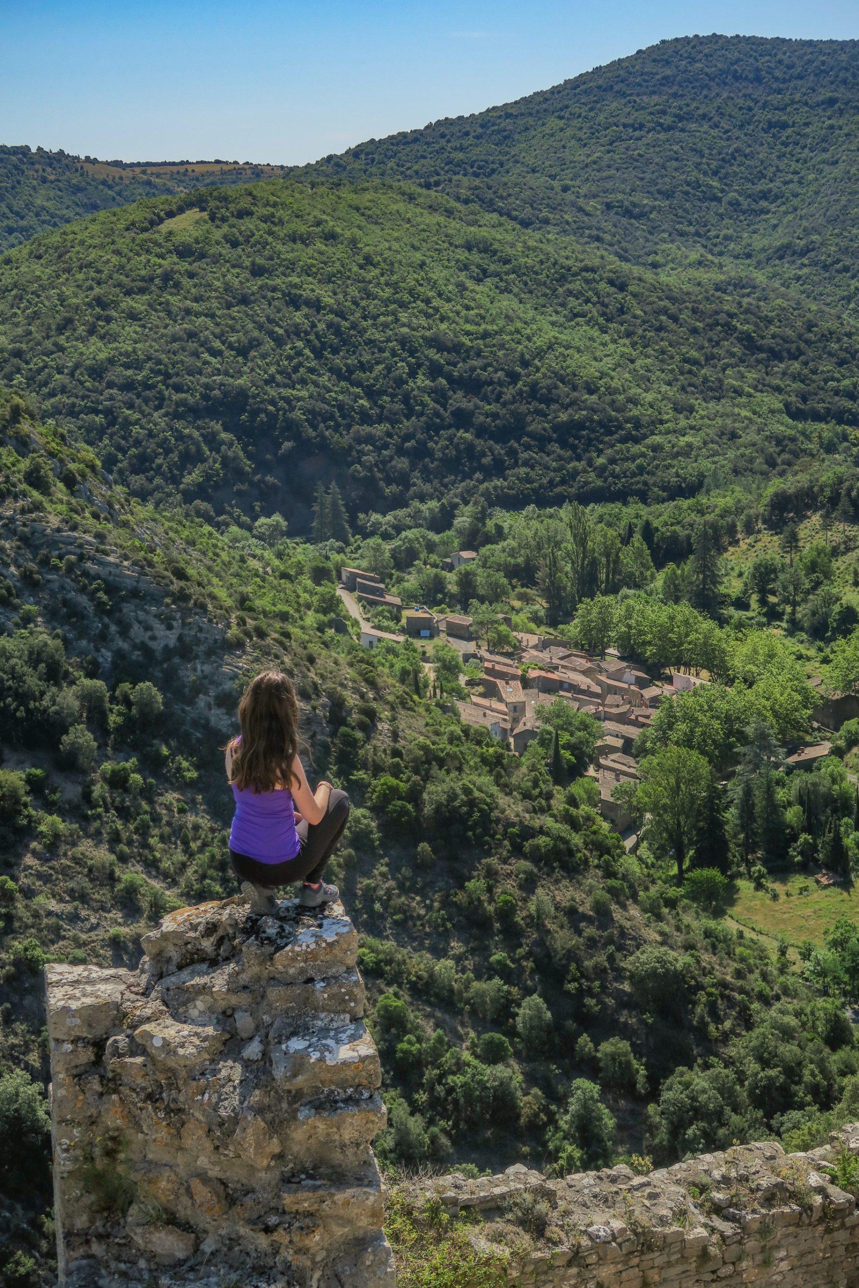 vue sur Termes depuis le château